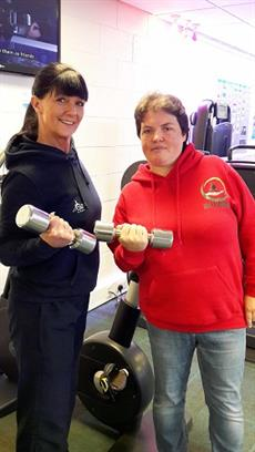 Inspiring healthy lifestyles Specialist Activity Instructor Lynn Franklyn and Help A Squaddie founder Kerry Urquhart.