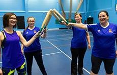 Round Our Way - Angharad Wheatley, Katie Rudd, Sue Rudd and Alex Shaw get ready for a game of rounders