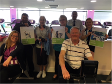 Brereton Surgery's Dr Gunda (back left), Dr Davies (back right) and Stephanie Barnes (clinical administrator - back centre); Sandy Lane Surgery practice nurse Claire Stamp (front left); and George Gaye (Health & Wellbeing Officer, Inspiring healthy lifestyles – back, second from right); with residents