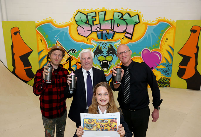 Summit Indoor Adventure skate park brought to life with professional graffiti