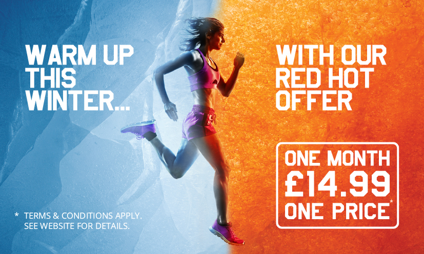 Warm up this winter with our red-hot offer: £14.99 for one month