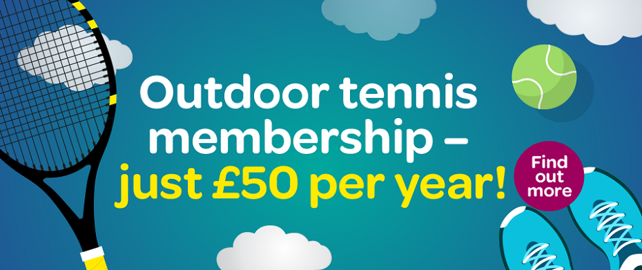Outdoor tennis membership available now at Robin Park Leisure Centre - only £50 per year!