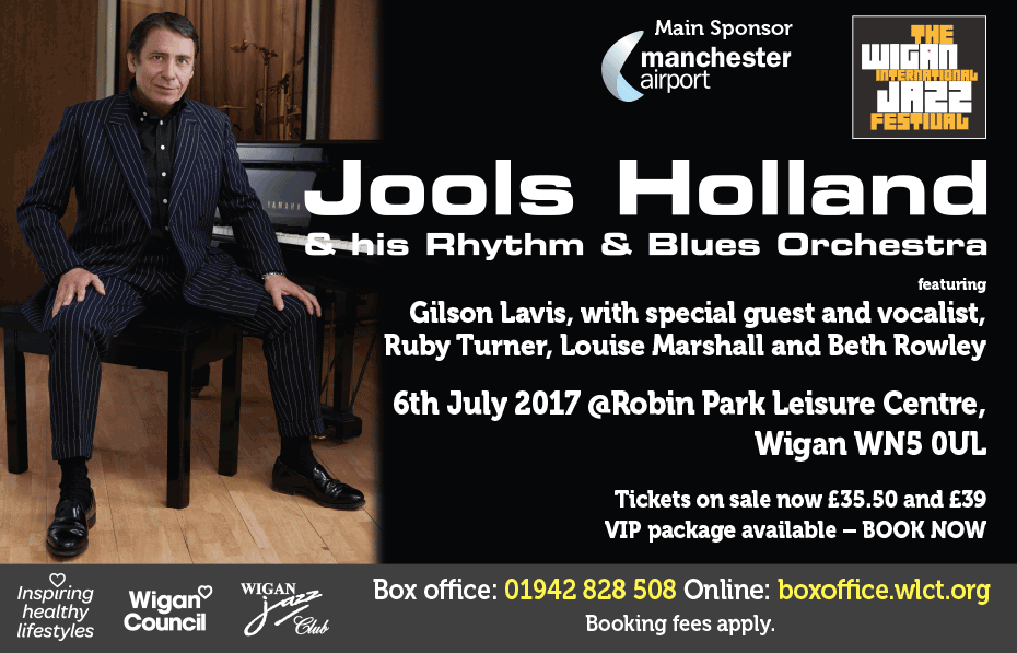 Jools Holland at Robin Park Leisure Centre on 6 July 2017. Book your tickets now!
